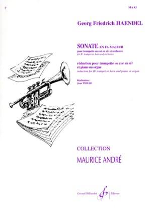Sonate En Fa HAENDEL Partition Trompette - laflutedepan