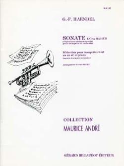HAENDEL - Sonate En Fa Majeur - Partition - di-arezzo.fr
