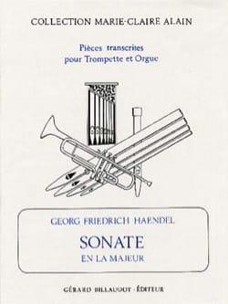 Sonate En la Majeur HAENDEL Partition Trompette - laflutedepan