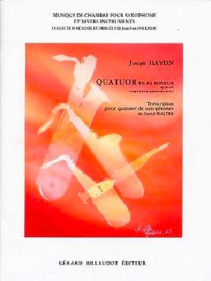 Joseph Haydn - Quatuor En Fa Mineur - Partition - di-arezzo.fr