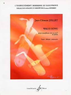 Jean-Clément Jollet - Wales song - Sheet Music - di-arezzo.co.uk