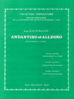 Andantino et Allegro - Jean Kauffmann - Partition - laflutedepan.com