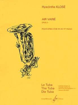 Hyacinthe Eléonore Klosé - Air Varié Opus 21 - Partition - di-arezzo.fr