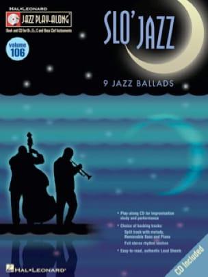 Jazz Play-Along Volume 106 - Slo' Jazz - laflutedepan.com