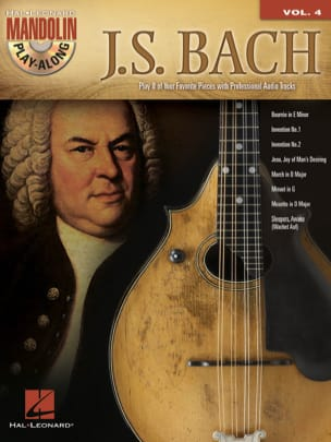 Mandolin Play-Along Volume 4 - J.S. Bach BACH Partition laflutedepan