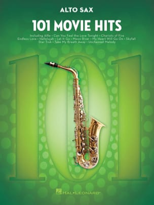101 Movie Hits For Alto Saxophone Partition Saxophone - laflutedepan