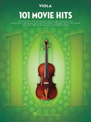 101 Movie Hits For Viola Partition Alto - laflutedepan