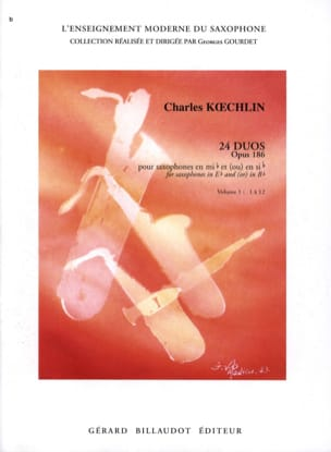 Charles Koechlin - 24 Duos Opus 186 Volume 1 - Partition - di-arezzo.co.uk