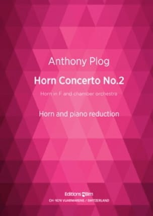Anthony Plog - Horn Concerto No. 2 - Partition - di-arezzo.fr