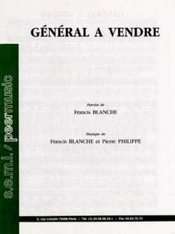 Général à vendre Francis Blanche Partition laflutedepan