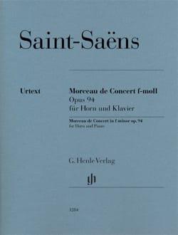 Camille Saint-Saëns - Morceau de Concert en Fa mineur opus 94 - Partition - di-arezzo.fr