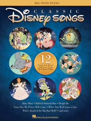 Classic Disney Songs - Big-Note Piano DISNEY Partition laflutedepan