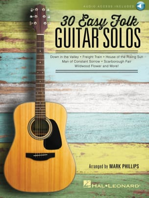 Traditionnels - 30 Easy Folk Guitar Solos, with downloadable audio content - Sheet Music - di-arezzo.co.uk