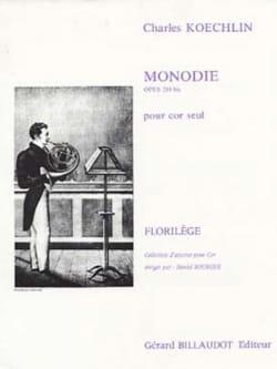 Monodie Opus 218 Bis - Charles Koechlin - Partition - laflutedepan.com