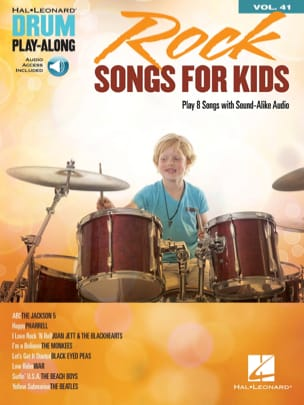 Drum Play-Along Volume 41 - Rock Songs for Kids laflutedepan
