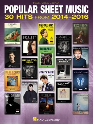 - Popular Sheet Music - 30 Hits from 2014 - 2016 - Partition - di-arezzo.fr