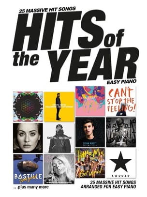 Hits Of The Year 2016 - Easy Piano - Partition - di-arezzo.fr