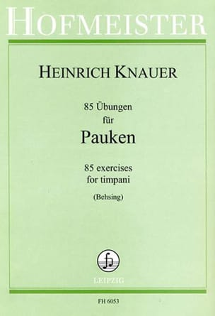 heinrich knauer - 85 Exercises for Timpani - Sheet Music - di-arezzo.com