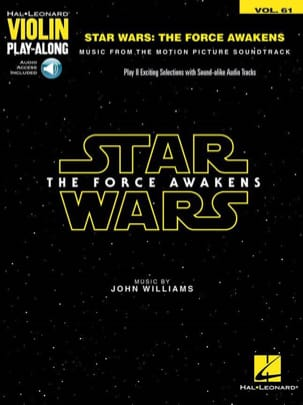 John Williams - Violino Play-Along Volume 61 - The Star Wars: The Force Awakens - Partitura - di-arezzo.it