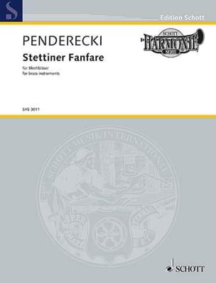 Krzysztof Penderecki - Stettiner Fanfare - Ensemble de Cuivres - Partition - di-arezzo.fr