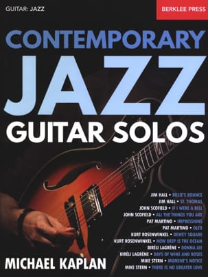 Contemporary Jazz Guitar Solos - Partition - di-arezzo.fr