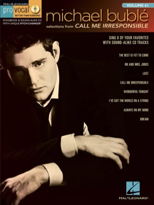 Pro Vocal Men's Edition Volume 61 - Michael Bublé - Call Me Irresponsible laflutedepan