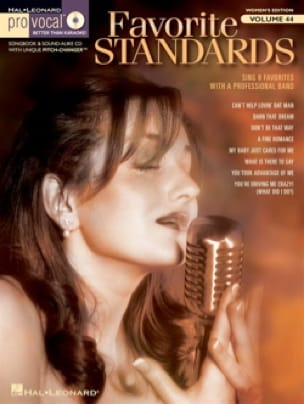 Pro Vocal Women's Edition Volume 44 - Favorite Standards - Partition - di-arezzo.fr