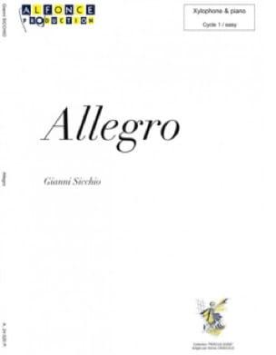 Gianni Sicchio - Allegro - Sheet Music - di-arezzo.com
