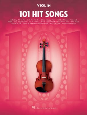 101 Hit Songs for Violin Partition Violon - laflutedepan