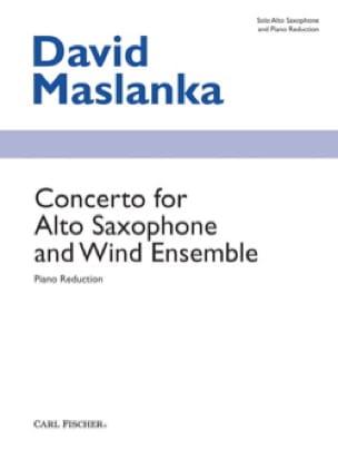 David Maslanka - ヴィオラ・サクソフォンと風のアンサンブルのための協奏曲 - 楽譜 - di-arezzo.jp