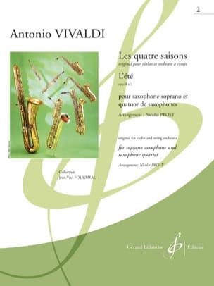 Antonio Vivaldi - Les quatre saisons - L'Eté (Opus 8 n°2) - Partition - di-arezzo.fr