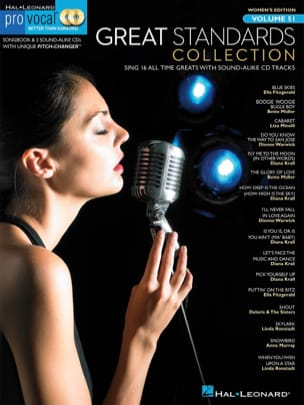 Pro Vocal Women's Edition Volume 51 - Great Standards Collection avec 2 CDs - Partition - di-arezzo.fr