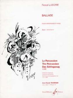 Ballade Pascal Laborie Partition Vibraphone - laflutedepan