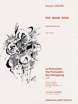 Pascal Laborie - For Snare Drum - Partition - di-arezzo.fr