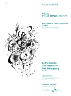Pascal Laborie - Pièce Pour Timbales N° 2 - Partition - di-arezzo.fr