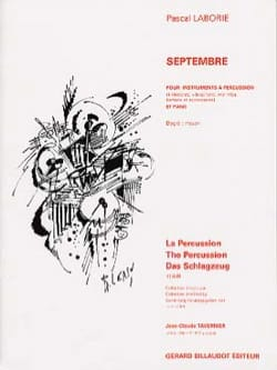 Pascal Laborie - Septembre - Partition - di-arezzo.fr