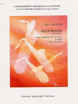Belle Epoque Evocation Guy Lacour Partition Saxophone - laflutedepan