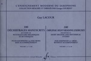 Guy Lacour - 100 Dechrifrages Manuscripts Volume 1 - Sheet Music - di-arezzo.co.uk