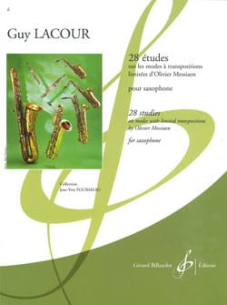 Guy Lacour - 28 Etudes - On the Modes with Limited Transpositions by Olivier Messiaen - Sheet Music - di-arezzo.co.uk