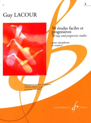 Guy Lacour - 50 Etudes Faciles Et Progressives Volume 2 - Partition - di-arezzo.fr