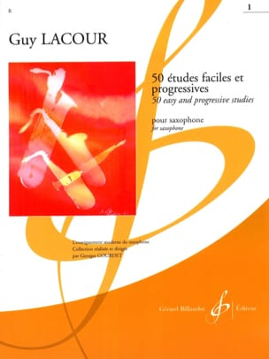 Guy Lacour - 50 Etudes Faciles et Progressives Volume 1 - Partition - di-arezzo.fr