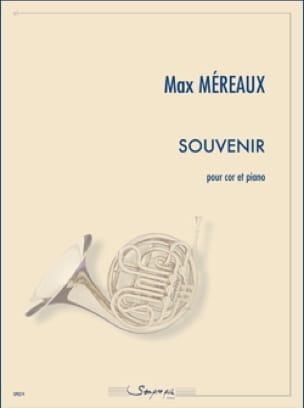 Souvenir - Max Méreaux - Partition - Cor - laflutedepan.com