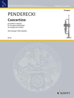 Concertino pour trompette et piano - PENDERECKI - laflutedepan.com