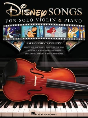 DISNEY - Disney Songs for Solo Violin & Piano - Partition - di-arezzo.fr