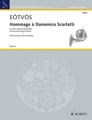 Peter Eotvos - Tribute to Domenico Scarlatti - Sheet Music - di-arezzo.com