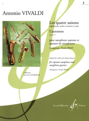 VIVALDI - The 4 seasons: Autumn - Sheet Music - di-arezzo.co.uk