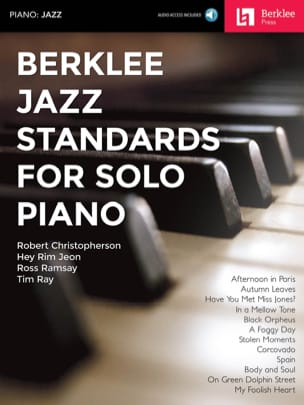 Berklee Jazz Standards for Solo Piano Partition Jazz - laflutedepan