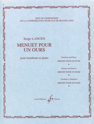 Serge Lancen - Minuet for a Bear - Sheet Music - di-arezzo.co.uk