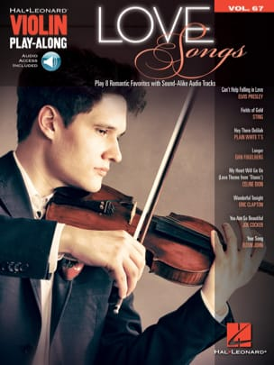 Violin Play-Along Volume 67 - Love Songs Partition laflutedepan