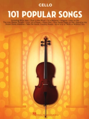 101 Popular Songs - Partition - Violoncelle - laflutedepan.com